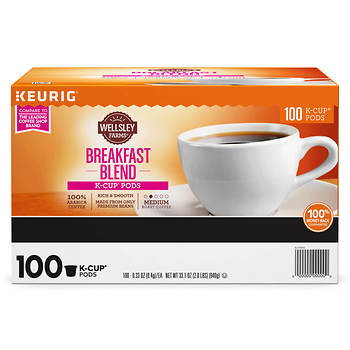 Wellsley Farms Breakfast Blend K-Cup Pods, 100 ct.