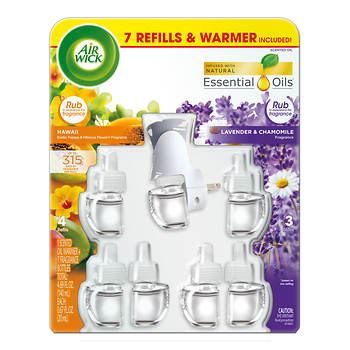 Air Wick Scented Oil Warmer with 7 Refills - Hawaii and American Samoa