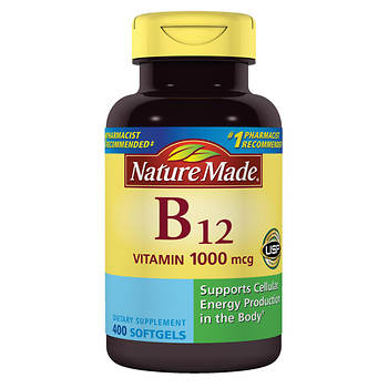 Nature Made Vitamin B12 1,000mcg Softgels, 400 ct.