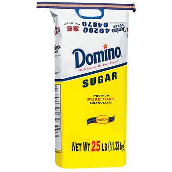 Domino Premium Pure Cane Granulated Sugar, 25 lbs.