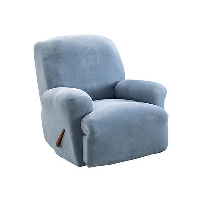 Sure Fit Stretch Pique Recliner Slipcover - Federal Blue