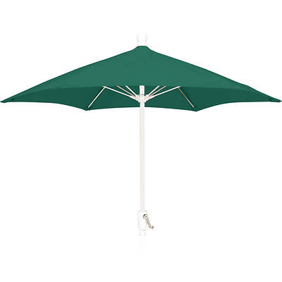 "FiberBuilt 7'6"" Patio Umbrella - Forest Green/White"