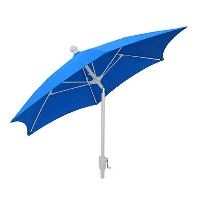 "FiberBuilt 7'6"" Patio Tilt Umbrella - Pacific Blue/White"