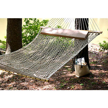 Castaway by Pawleys Island Polyester Rope Hammock with Pillow