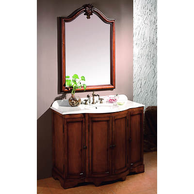 Dover Single-Sink Bathroom Vanity with 3 Storage Cabinets - Fruit Stain