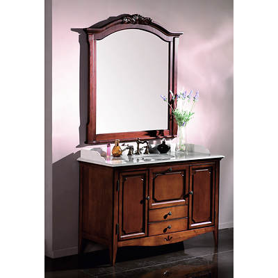 Somerset Single-Sink Bathroom Vanity with 2 Drawers and 2 Cabinets - Light Cherry