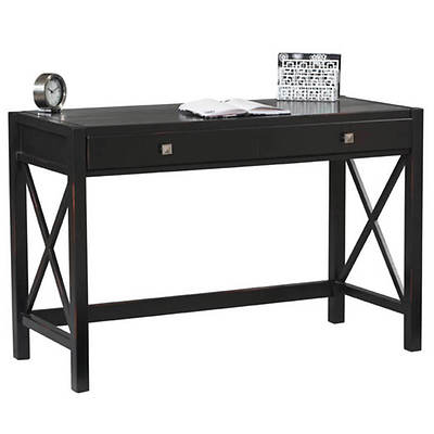Linon Anna Desk - Antique Black