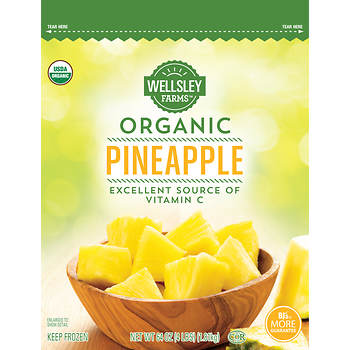 Wellsley Farms Organic Pineapple, 4 lbs.