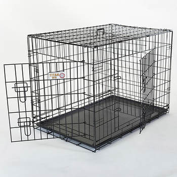 Majestic Pet Products Titan 42 Large Double-Door Folding Crate Cage for Dogs