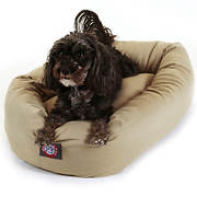 "Majestic Pet Products 24"" Small Twill Bagel Donut Pet Bed for Dogs 10-"