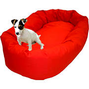"Majestic Pet Products 40"" Large Bagel Donut Pet Bed for Dogs 45-70 lbs"