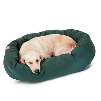 Majestic Pet Products 40 Large Twill Bagel Donut Pet Bed for Dogs 45-70 lbs. - Green