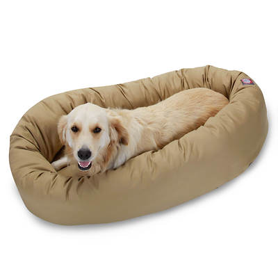 Majestic Pet Products 40 Large Twill Bagel Donut Pet Bed for Dogs 45-70 lbs. - Khaki
