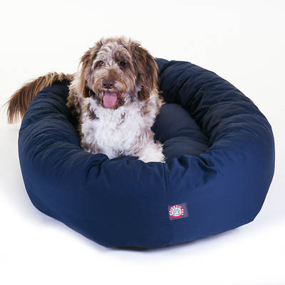Majestic Pet Products 52 Extra-Large Twill Bagel Donut Pet Bed for Dogs 70-110 lbs. - Blue