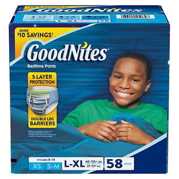 GoodNites Bedtime Bedwetting Underwear for Boys, Size L/XL, 58 ct.