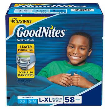 GoodNites L/XL Boys Bedtime Pants, 58 ct.