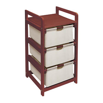 Badger 3-Drawer Hamper/Storage Unit - Cherry