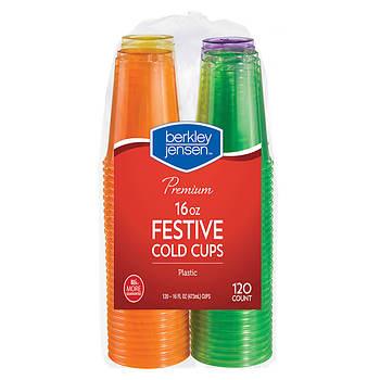 Berkley Jensen 16-Oz. Plastic Cold Cups, 120 ct. - Multicolor