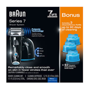 Braun Series 7 Shaver System with Bonus 70S Replacement Head