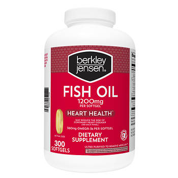 Berkley jensen 1 200mg fish oil softgels 300 ct bj 39 s for Red fish oil