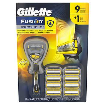 Gillette Fusion ProShield Men's Razor with FlexBall Handle and 9 Razor Blade Refills
