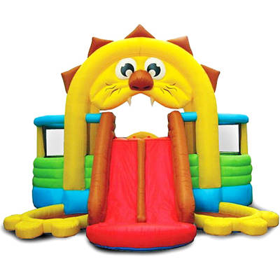 Inflatable Lion Bounce House with Slide and Ball Pit