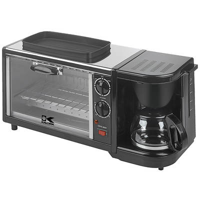 Kalorik Breakfast Set Toaster Oven with Coffee Maker and Griddle