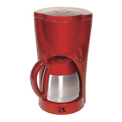 Kalorik 8-Cup Coffeemaker with Thermal Stainless Carafe - Red