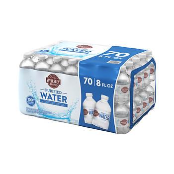 Wellsley Farms Purified Water, 70 pk./8 oz.