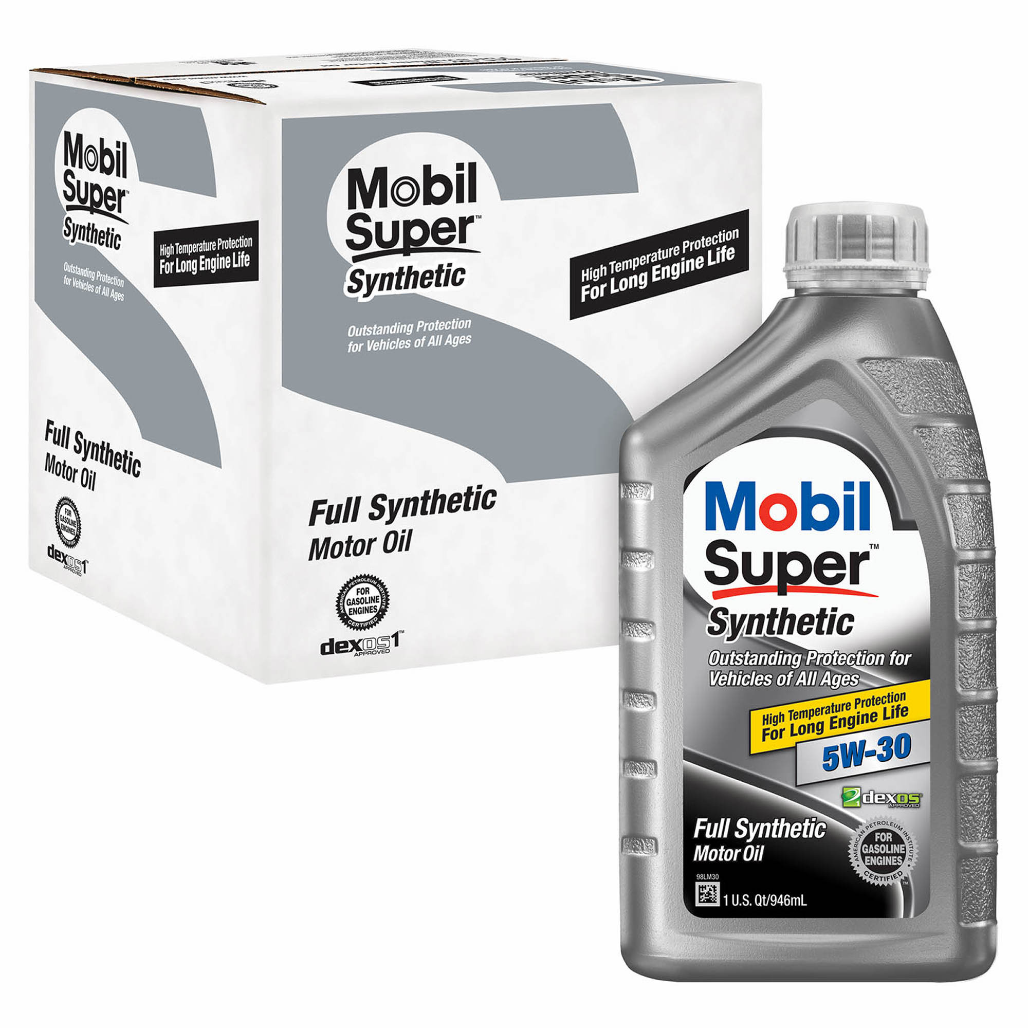 Mobil 5w30 Super Synthetic Motor Oil 6 Pk 1 Qt Bj 39 S