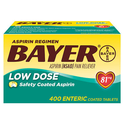 Bayer Low Dose 81mg Aspirin Tablets - 400 Count