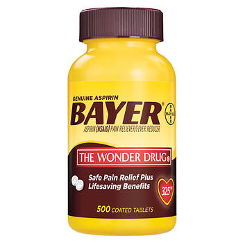 Genuine Bayer 325mg Aspirin Tablets, 500 ct.