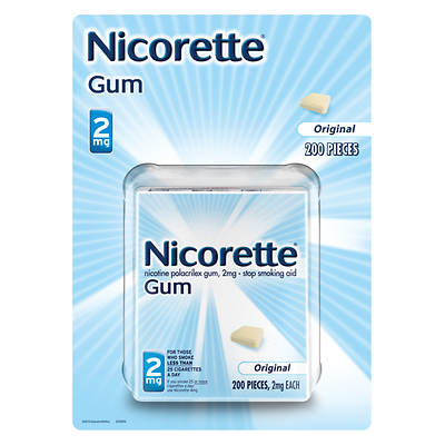 Nicorette 2mg Original Nicotine Polacrilex Gum - 200 Pieces