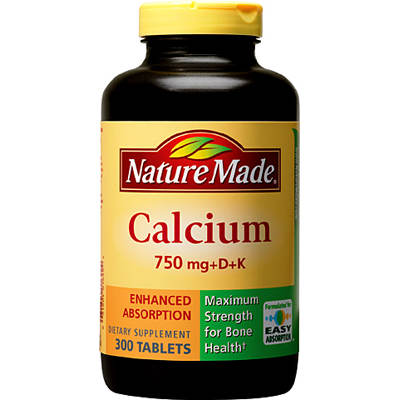 Nature Made 750mg Calcium Tablets - 300 Count