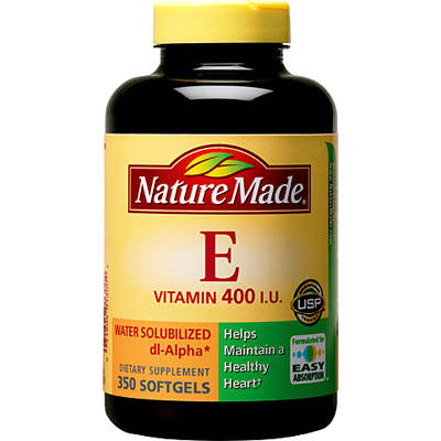 Nature Made 400 I.U. Water Solubilized Vitamin E Softgels - 350 Count