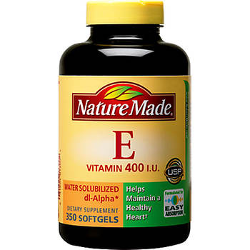 Nature Made 400 I.U. Water Solubilized Vitamin E Softgels, 350 ct.
