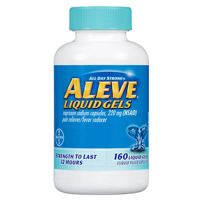 Aleve 220mg Liquid Gel Capsules - 160 Count