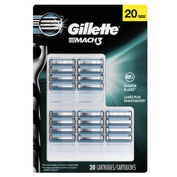 Gillette Mach 3 Cartridges, 20 ct.