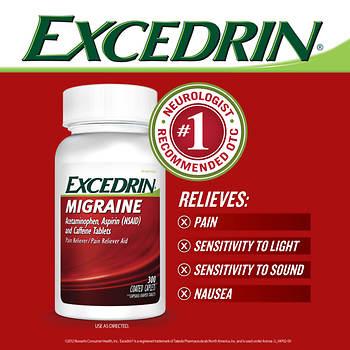 Excedrin Migraine Caplets, 300 ct.