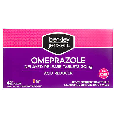 Berkley & Jensen 20mg Omeprazole Acid Reducer Tablets, 14 Count, 3-Pk