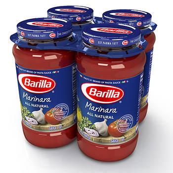 Barilla All-Natural Marinara Sauce, 4 ct./24 oz.