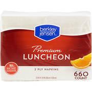 "Berkley Jensen 13"" Premium Luncheon Napkins, 660 ct. - White"