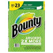 Bounty Super Plus Roll Paper Towels, 12 pk.