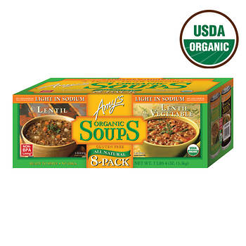 Amy's Organic Lentil Soups, 8 pk./14.5 oz.