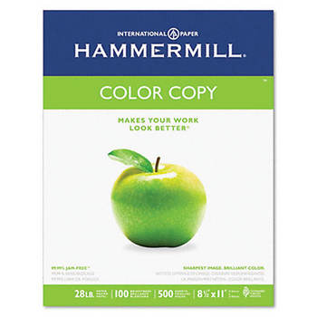 Hammermill Color Copy/Laser Paper with 98 Brightness, 28-lb., Letter, 500 ct. - Photo White