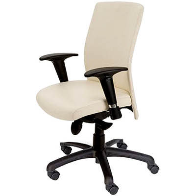 Mac Motion Chairs Pinnacle Office Chair - Pearl/Black