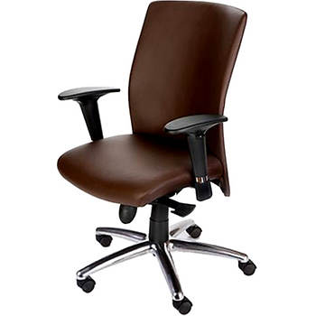 Mac Motion Pinnacle Office Chair - Cacao/Polished Aluminum