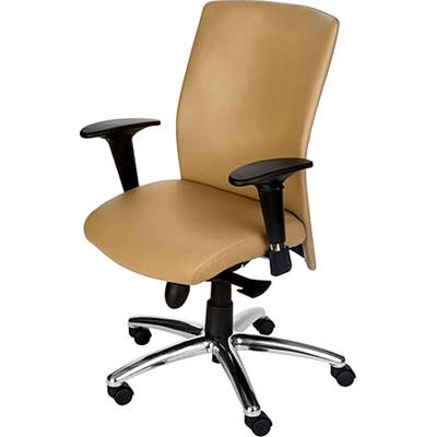 Mac Motion Chairs Pinnacle Office Chair - Dune/Polished Aluminum