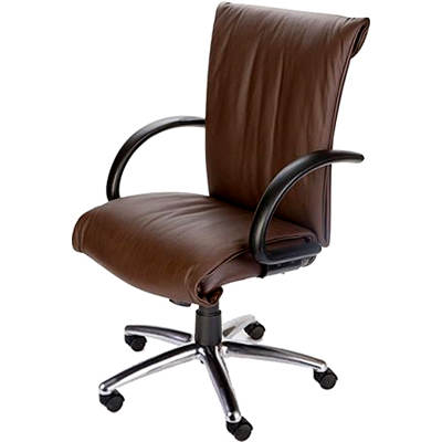 Mac Motion Chairs Zen Office Chair - Cacao/Polished Aluminum