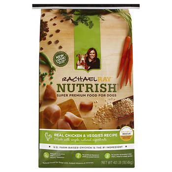 Rachael Ray Nutrish Real Chicken & Veggies Dry Dog Food, 40 lbs.